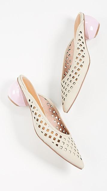 JAGGAR Решетчатые туфли без задников на каблуке