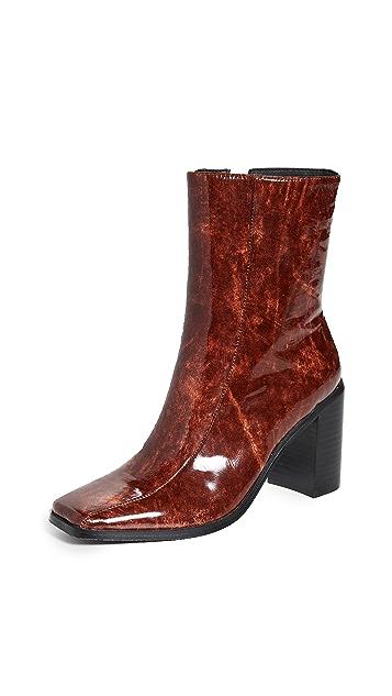 JAGGAR Bold Block Heel Ankle Boots