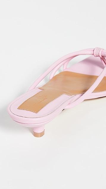 JAGGAR Loop Kitten Heel Sandals