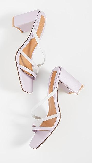 JAGGAR Resort Heel 渐变色凉拖鞋