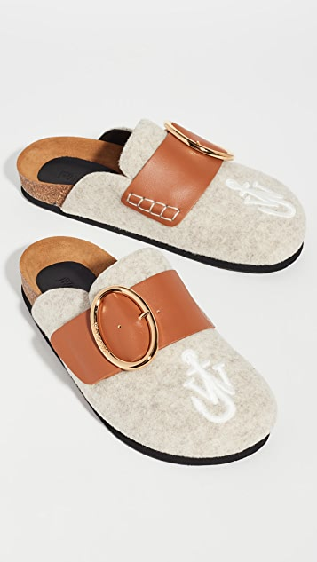 JW Anderson Felt Belted Mules