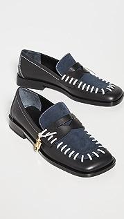 JW Anderson 明针脚平跟船鞋