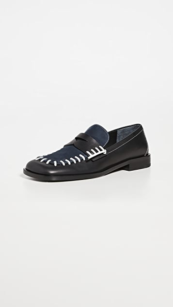 JW Anderson Exposed Stitch Loafers