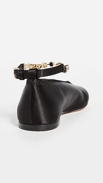 JW Anderson 水钻踝饰芭蕾平底鞋