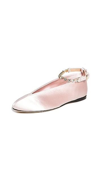 JW Anderson Rhinestone Anklet Ballet Flats