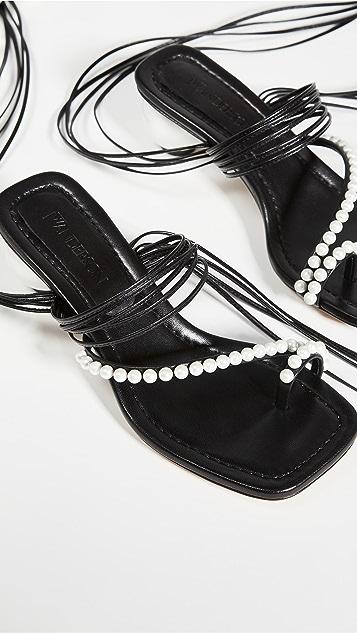 JW Anderson Embellished Lace Up Sandals