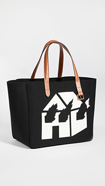 JW Anderson Large Belt Burning House Tote