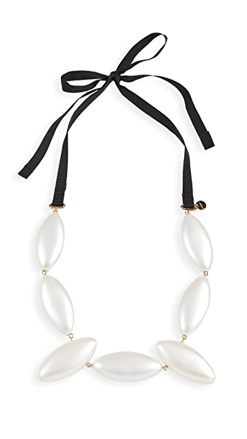 JW Anderson Oval Resin Pearl Necklace