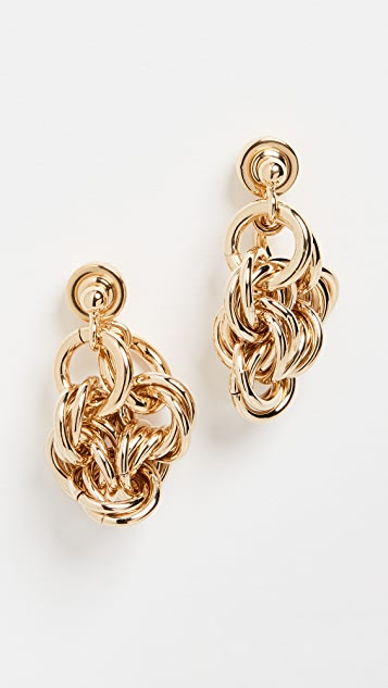 JW Anderson Multi Links Folded Earrings