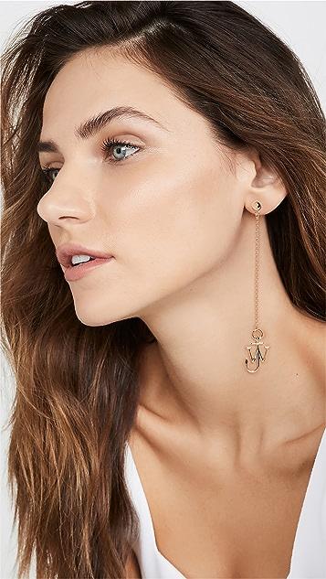 JW Anderson 不对称链条锚形耳环