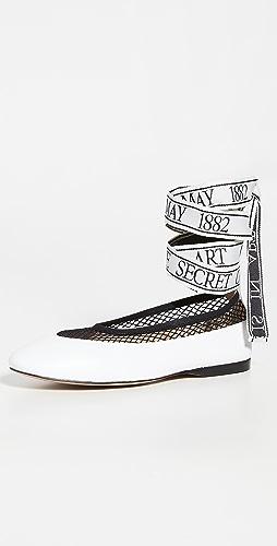 JW Anderson - 网面芭蕾舞平底鞋
