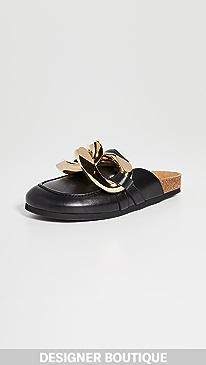 JW앤더슨 JW Anderson Chain Loafers,Black