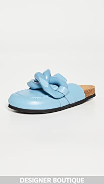JW앤더슨 JW Anderson Chain Loafers,Light/Pastel Blue
