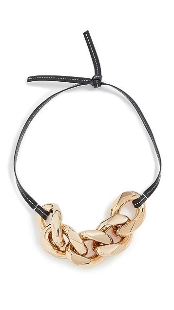 JW Anderson Small Chain Strap Necklace