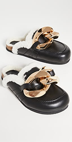 JW Anderson - Shearling Chain Loafers