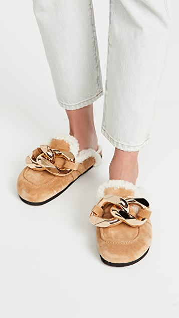 JW Anderson Shearling Chain Loafers