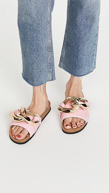 JW Anderson 链条凉拖鞋