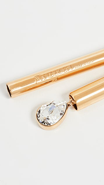 JW Anderson Tubular Crystal Necklace