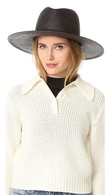 Janessa Leone Lynn Short Brimmed Panama Hat