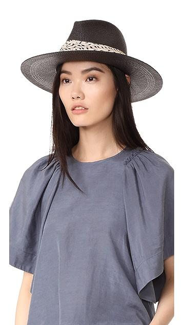 Janessa Leone Josephine Short Brimmed Panama Hat