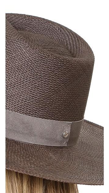 Janessa Leone Justine Tall Crown Panama Hat