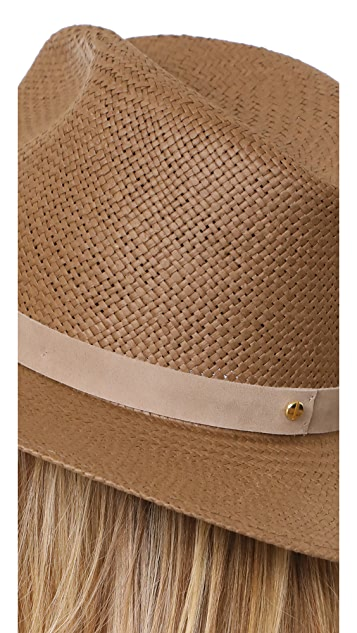 Janessa Leone Packable Adriana Short Brimmed Fedora