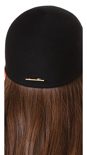 Janessa Leone Parker Brimmed Cap