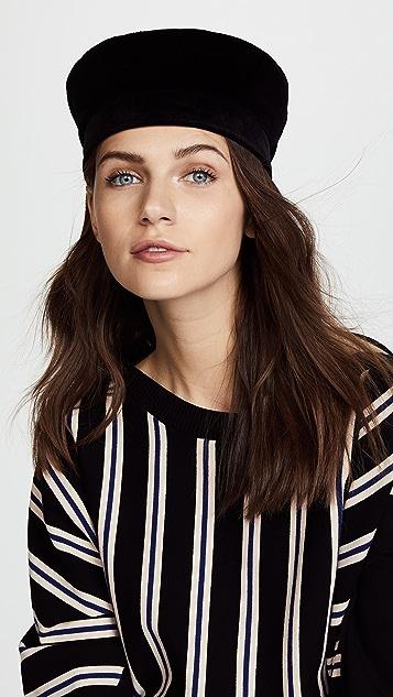 Janessa Leone Ivette Velvet Cap