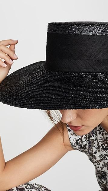 Janessa Leone Desi Boater Hat
