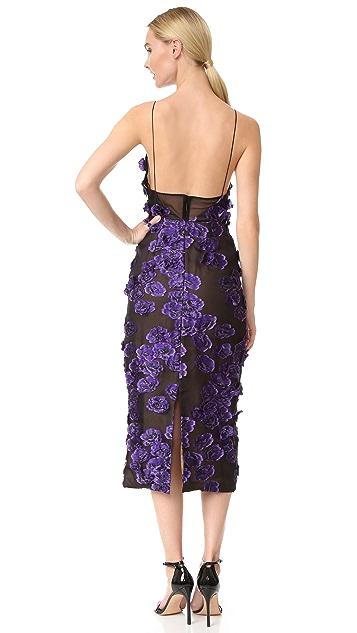 Jason Wu Floral Sleeveless Fil Coupe Dress
