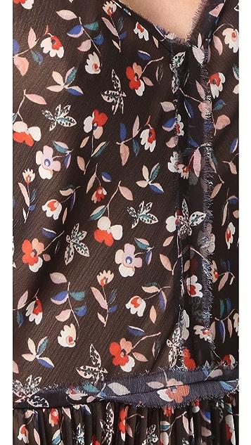 Jason Wu Print Floral Sleeveless Dress