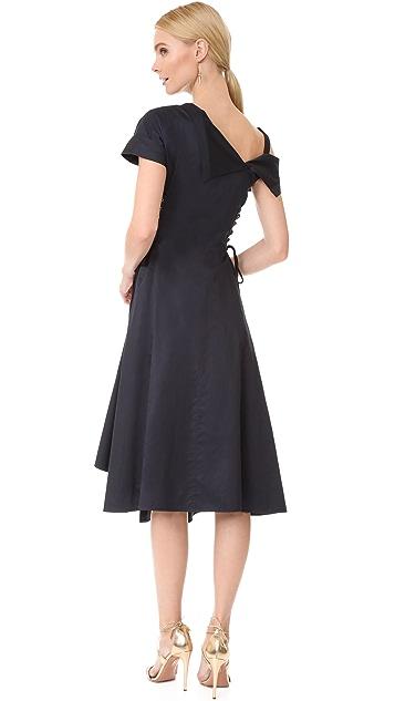 Jason Wu Asymmetrical Lace Up Dress