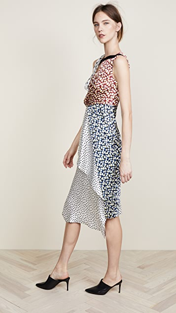 Jason Wu Collage Crepe Dress