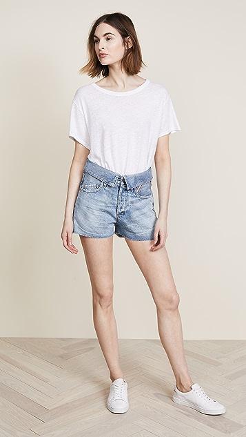 Jean Atelier Flip Denim Shorts