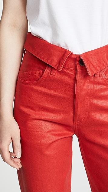 Jean Atelier Coated Flip Pants