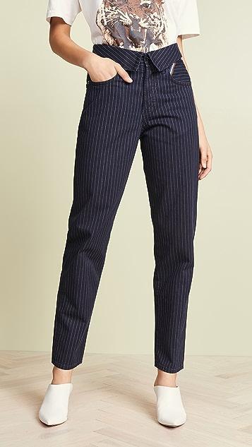 Jean Atelier The Flip Pinstripe Pants