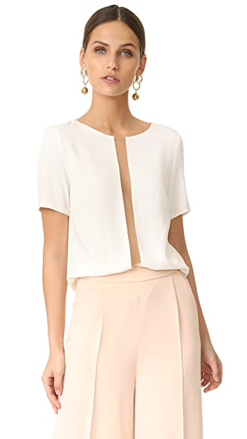 Julianna Bass Julia Crepe Top