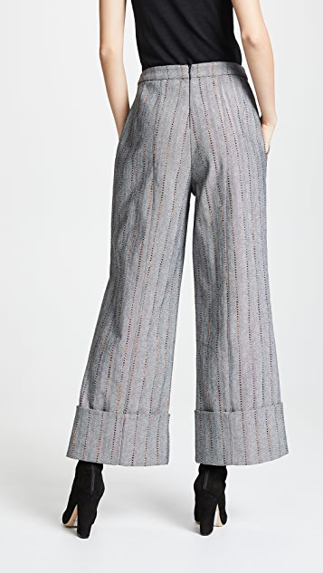 Julianna Bass Cropped Carolyn Trousers