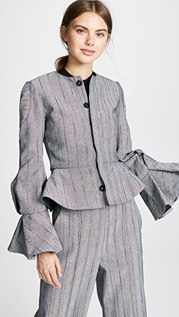 Julianna Bass Hilary Flare Sleeve Jacket