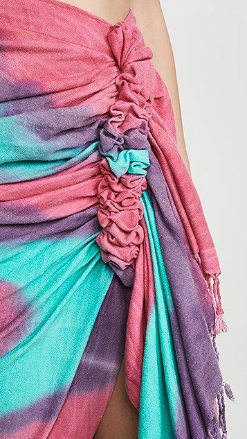 Just BEE Queen Юбка Tulum в технике узелкового батика