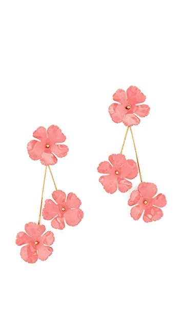 Jennifer Behr Peony Flower Earrings