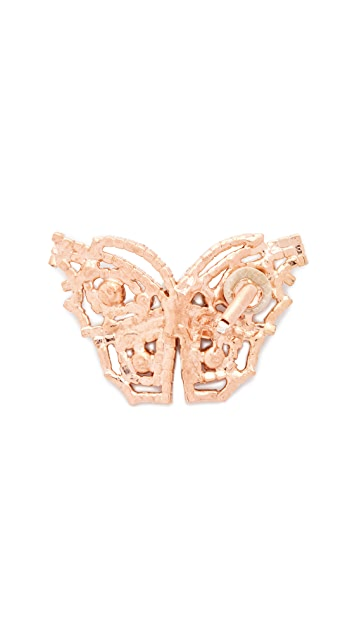 Jennifer Behr Butterfly Clip On Earrings