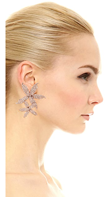 Jennifer Behr Crystal Orchid Cascade Clip On Earrings