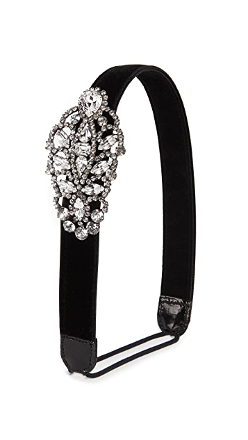 Jennifer Behr Crystal Encrusted Headband