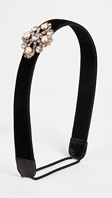 Jennifer Behr Crystal Brooch Headband