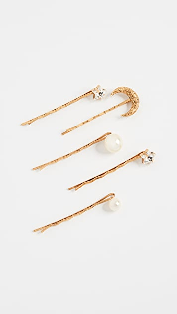 Jennifer Behr Celestial Set of 5 Bobby Pins