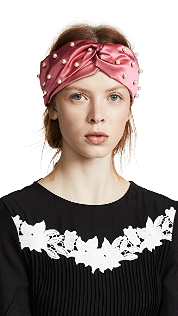 Jennifer Behr Imitation Pearl Turban Headband