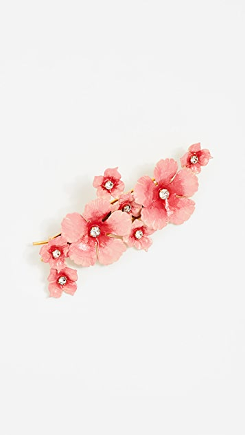 Jennifer Behr Painted Floral Mix Barrette