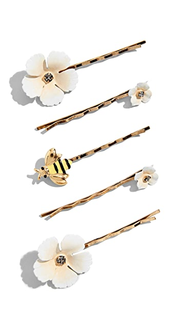 Jennifer Behr Flower & Bee Bobby Pin Set