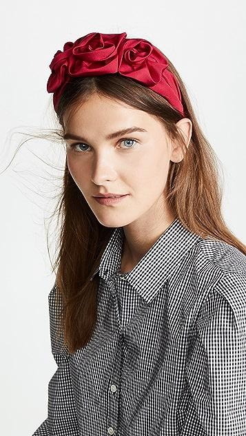 Jennifer Behr Triple Rosette Headband